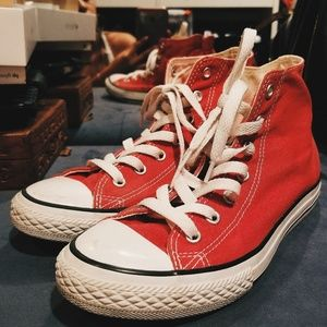 Red high to converse